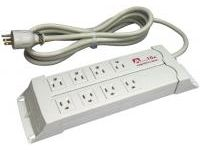 Multi-Use Power Strip, 8 Outlets (Grounded, 2P, 15 A, 125 V)