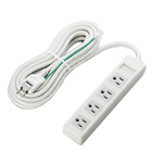 3-Pin-Compatible Outlet Power Splitter with Magnet