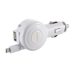 2.4 A Retractable DC Charger Micro & USB