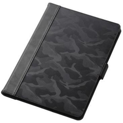 9.7-Inch iPad 2017 Model / Flap Cover / Fabric Flap / Free Angle / Casual / Camouflage Black