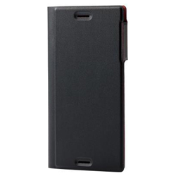 Xperia XZs / Xperia XZ / Soft Leather Cover / Thin Type / With Magnet / Black