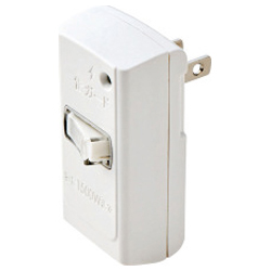 Front Tap / Surge Protector / With Switch / 1 Socket / White