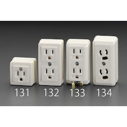 Square type socket-outlet(With Grounding) EA940CG-131