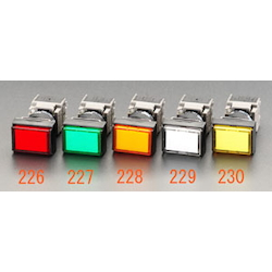 LED Illuminated Square Type Push Button Switch EA940D-230