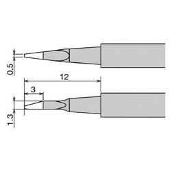 "Interchangeable Iron Tip for Use with ""XST-80G"""