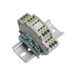 Clutch Lock Terminal Block, Compact Series (Rail Type) Standard Type (2-Stage)