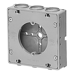 Recessed Square Outlet Box (Ultra Thin Type / With Flat Plaster Ring)