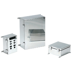 Opening and Closing Stainless Steel Box with External Mounting Feet, SLM Series