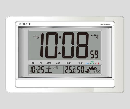 Radio Wave Controlled Digital Clock with Thermometer and Hygrometer