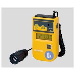 Oxygen Concentration Meter 1m (Curl Cord Type) with Vibration with Calibration Certificate