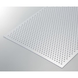 Transparent PVC Perforated Plate, Hole Diam. φ5.0 mm 450 x 600 x 1 t