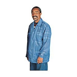 DESCO Statshield Smock, Jacket With Snaps, Blue