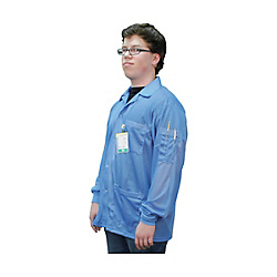DESCO Statshield Smock, Jacket With Knitted Cuffs, Blue