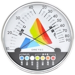 Heat Stroke / Influenza Warning Thermo-Hygrometer White