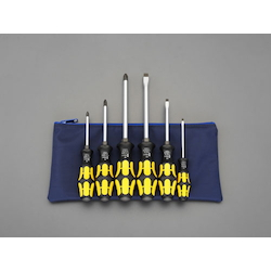 [6 Pcs] (+)(-) Hammerhead Screwdriver (With Handle-Side Hexagonal Shaft) EA560E-600