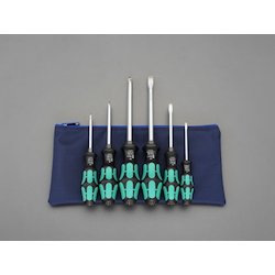 [6 Pcs] (+)(-) Screwdriver (With Handle-Side Hexagonal Shaft) EA560WD-600