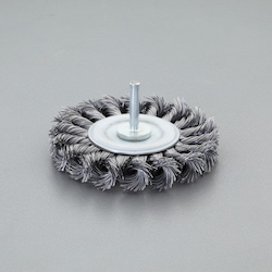 Flat Type Wire Wheel Brush with Shaft (6mm Shaft) EA819BM-301
