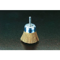 Cup Type Brass Brush with Shaft (6mm Shaft) EA819BR-21