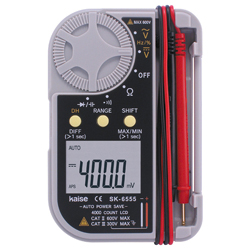 Case integrated, digital multimeter