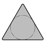 "60° Triangle Positive without Hole TPMN without Breaker ""Cast Iron"""