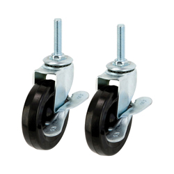 Luminous 25 mm Series Rubber caster, clear caster