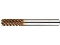 TSC series carbide high-helical end mill (cutting edge deflection accuracy of 5 μm or less)