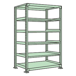 Medium/Light Duty Shelfs, NE Type (Green), Height 2100 mm