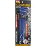 Colored Hexagonal & Ball Point Wrench Set (9 Pieces)