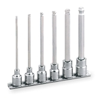 Long Ballpoint Hexagonal Socket Set (with Holder) HBH306L