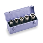 Super Long Socket Set for Impact Wrenches (Metal Tray Case Type) NV605LL