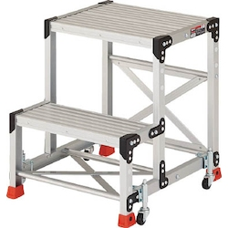 Work Platform (Heavy Duty Type with Hand Rails and Spring Casters) with Spring Casters