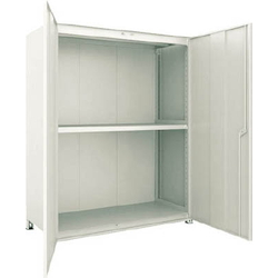 Small to Medium Capacity Boltless Shelf Model M3 (Panels and Doors Provided, 300 kg Type, Height 1,800 mm, 3 Shelf Type) Single Unit Type (Height 1,800 mm, Rear and Side Plates Provided)