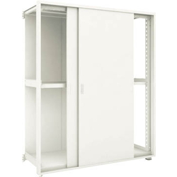 Small to Medium Capacity Boltless Shelf Model M3 (Panels and Double Sliding Doors Provided, 300 kg Type, Height 1,800 mm, 3 Shelf Type) Linked Unit Type (Height 1,800 mm, Rear Plates Provided)