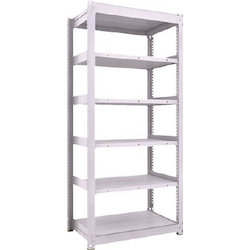 Medium Capacity Boltless Shelf Model TUG (300 kg Type, Height 2,100 mm, 6 Shelf Type) Single Unit Type (Height 2,100 mm, 6 Shelf Type)