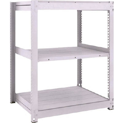 Medium Capacity Boltless Shelf Model TUG (450 kg Type, Height 1,200 mm, 3 Shelf Type) Single Unit Type (Height 1,200 mm, 3 Shelf Type)