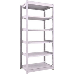 Medium Capacity Boltless Shelf Model TUG (450 kg Type, Height 2,100 mm, 6 Shelf Type) Single Unit Type (Height 2,100 mm, 6 Shelf Type)