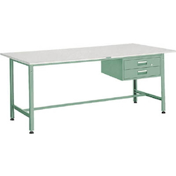 Light Work Bench with 2 Drawers Plastic Panel Tabletop Average Load (kg) 300