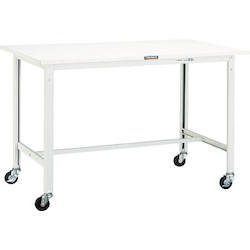 Light Work Bench with φ75 mm Casters Plastic Panel Tabletop Average Load (kg) 150