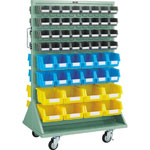 Panel Container Rack (Double-Sided, Caster Type)