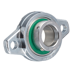 Diamond Flange Mount Unit, Silver Series with Eccentric Wheel, Cylindrical Hole Shape, MUFL