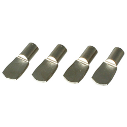 5 x 8 mm flat nickel bracket for shelf dowel 5 φ holes