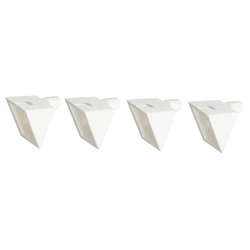 5 x 8 white flat bracket threaded hole for shelf dowel 5 φ holes
