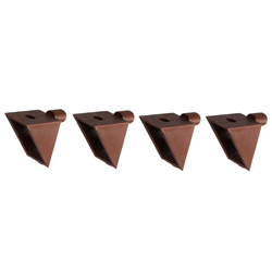 5 x 8 brown flat bracket threaded hole for shelf dowel 5 φ holes