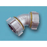 Tube Expansion Fitting for Stainless Steel Pipes, BK Joint, 45°, Elbow 316