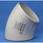 Butt Welding Type Pipe Fittings, Stainless Steel 45° Elbow