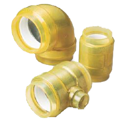 Pre-Sealed HB Gold Buried Type (Fire Fighting Piping Outer Transparent Covering) 45° Elbow