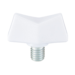 Nylon Butterfly Bolt, No. 3, White