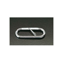 [Stainless Steel] Carabiner with Safety Lock EA638JK-1