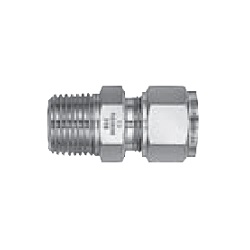 Stainless Steel, Dual Compressed Ring Model, Powerful Lock, (R Screw, Motor Couple Type Half Union)