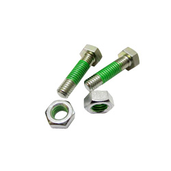 "Hex Bolts LOCTITE ""Precoat"" 202 (Bright Chromate) with 10 mm Coating From The Tip"